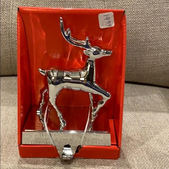 Kurt Adler Other - Silver Reindeer Mantle Stocking Holder with hook